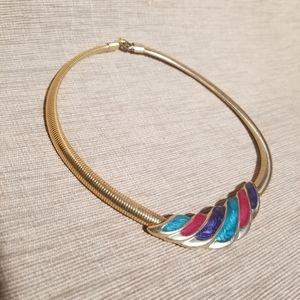 80's glam retro collar Necklace